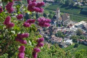 Blick auf den Dorfkern von Marling