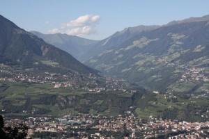 Blick Richtung Dorf Tirol und Passeiertal