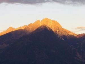 Ifinger bei Sonnenuntergang