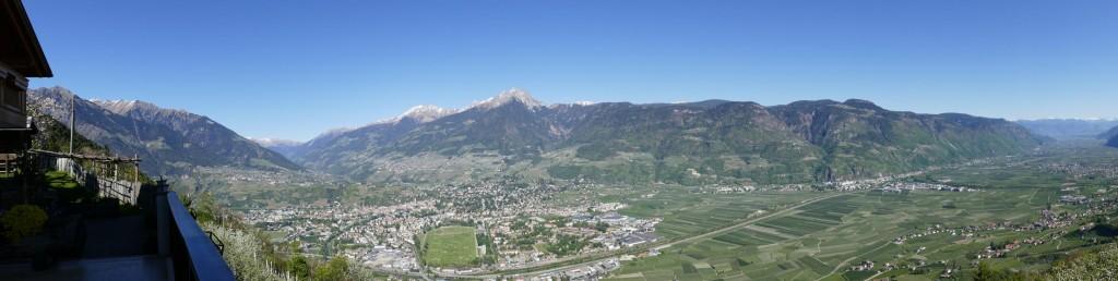Faszinierendes Panorama: von Meran nach Bozen