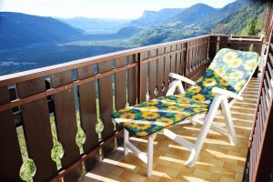 """Balkon von Zimmer """"Marille"""""""